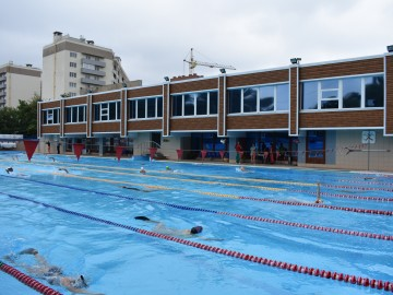 открытый бассейн, фасад изнутри , таганрог